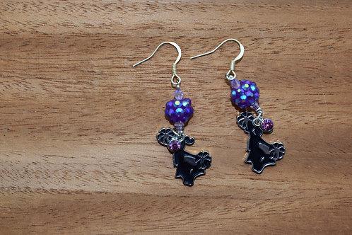 Purple Cheer Earrings