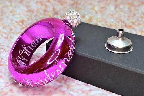 Hot Pink Bracelet Flask