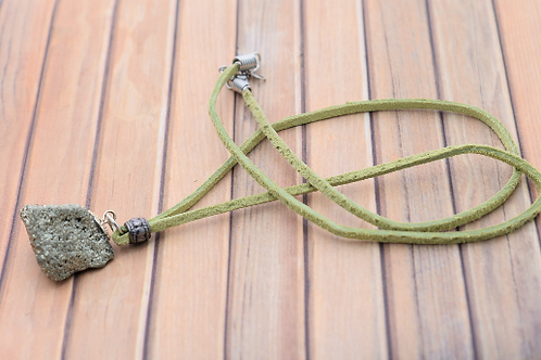 Fools Gold (Iron Pyrite) Rats Tail Necklace