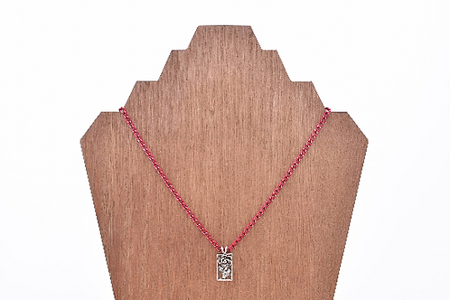 Rose Pink Chain Necklace