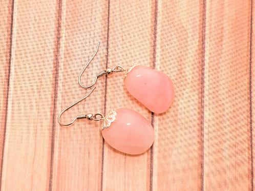 Pink Crystal Mountain WA Stone Earrings