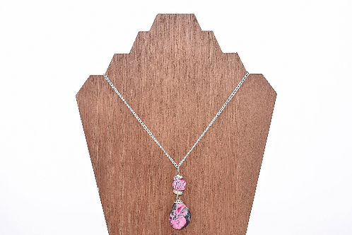 Hot Pink Crystal Mountain WA Stone Necklace