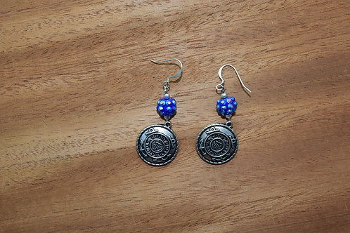 Blue Coast Guard Earrings