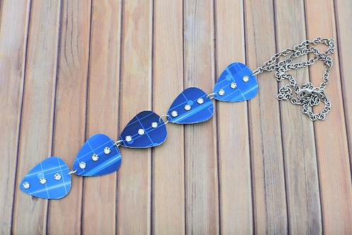 Blue Guitar Pick Necklace/Choker