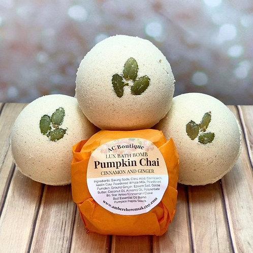 3 Pack Pumpkin Chai Lux Bath Bombs