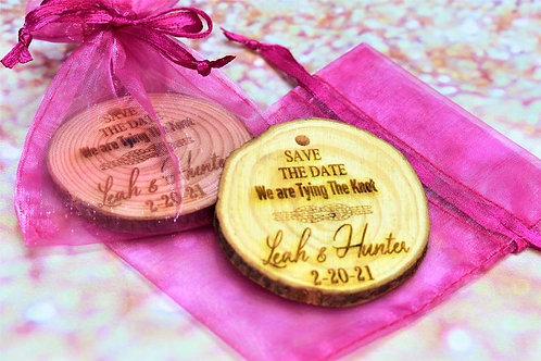 Personalized Wedding Favor Ornament Qty 10-49