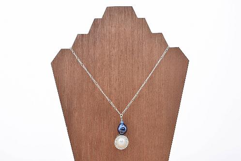 Elegant Oval Bead Pendant Necklace