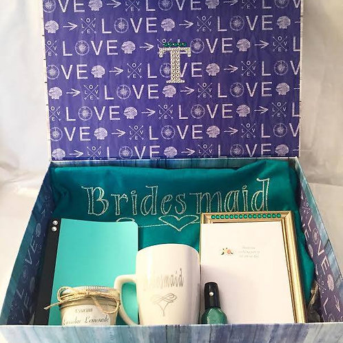 Teal Bridesmaid Box