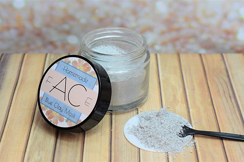 Homemade Blue Clay Face Mask
