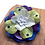Thumbnail: Blue Purple and Green Flower Hair Barrette with Swarovski Crystals