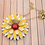 Thumbnail: Yellow and White Metal Flower Pendant Necklace