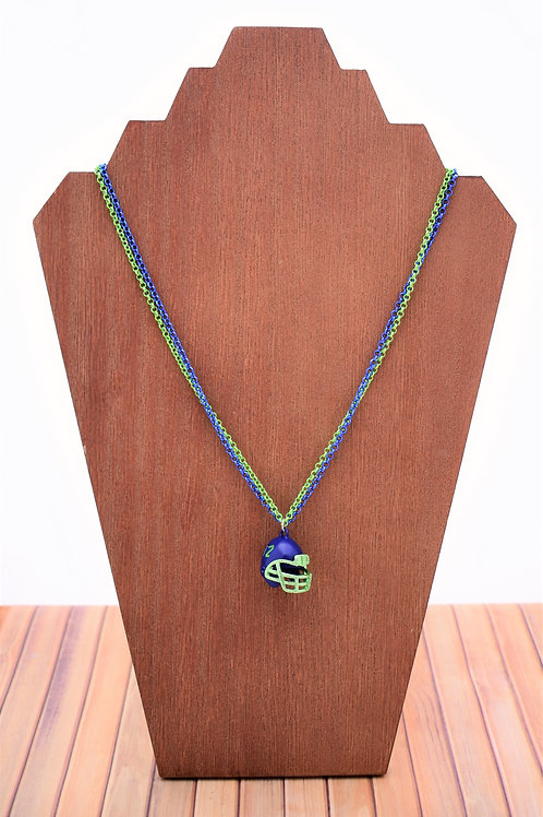 Seahawks Helmet Necklace