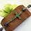 Thumbnail: Crystal Cross Purple and Green Floral Bracelet