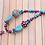 Thumbnail: Asymmetrical Beaded Resin Necklace