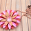 Thumbnail: Red and Pink Metal Flower Pendant Necklace