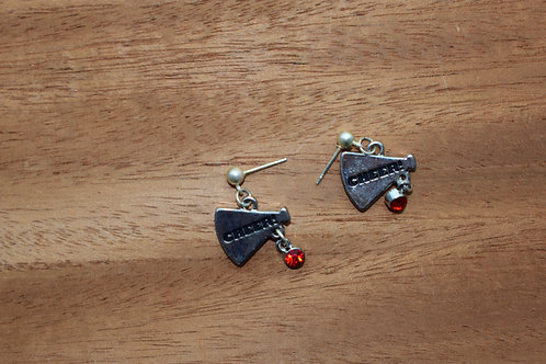 Red Cheer Earrings
