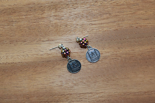 Multicolor US Army Earrings
