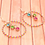 Thumbnail: Pink Green and Blue Large Hoop Earrings