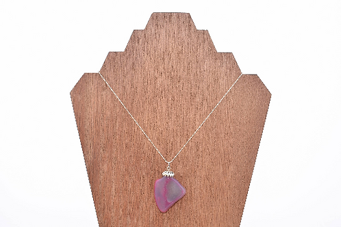 Pink Crystal Mountain WA Stone Necklace