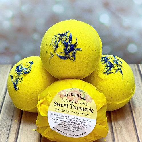 3 Pack Sweet Turmeric Lux Bath Bombs