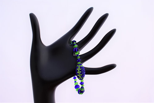 Seahawks Beaded Crystal Bracelet