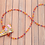Thumbnail: Orange Rainbow Glass Crystal Necklace