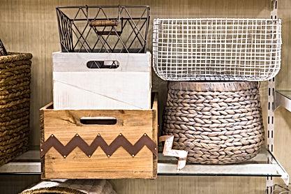 Assorted variety of home storage organiz