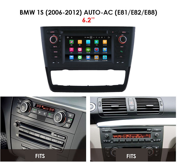 Android 9.0 PX5 for BMW 1S 2006-2012 E81 E82 E88 Auto AC