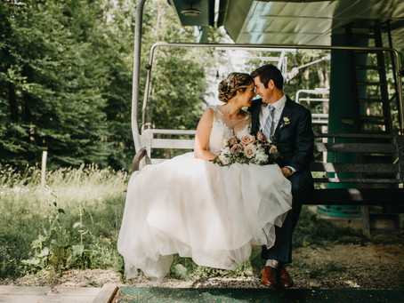 Dreamy Early Summer Ski Resort Wedding Day in Ellicottville, NY