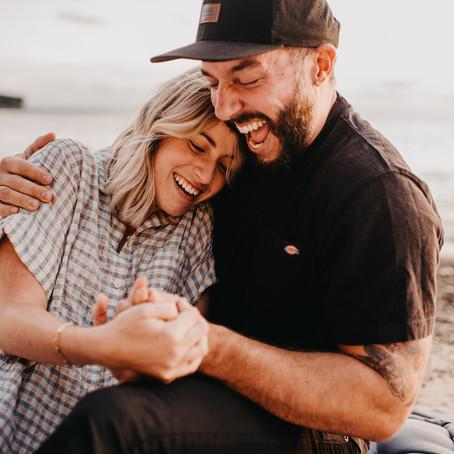 Sunset Surprise Proposal on the Beach - East Coast Wedding Engagement