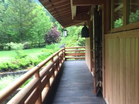 The Engawa of the Zendo of the Zen Temple