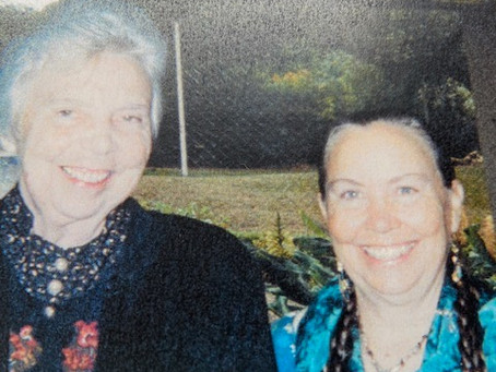 Suzanne Toolan RSM, musical mentor and longtime friend, and Johna