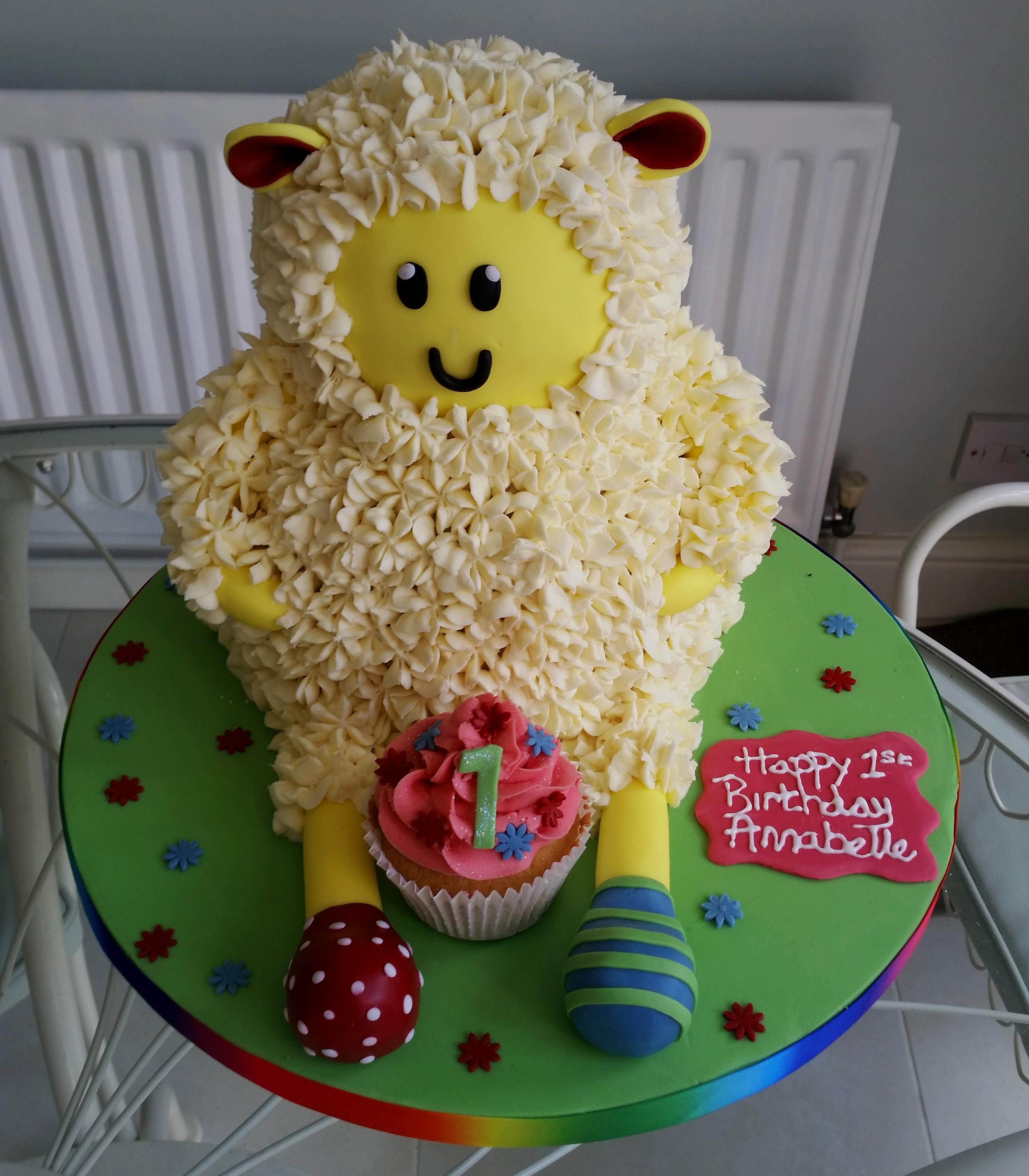 1st Birthday Sheep cake