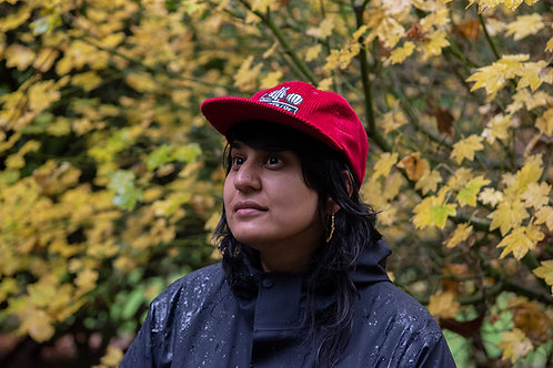 Red/Burgundy Corduroy Hat