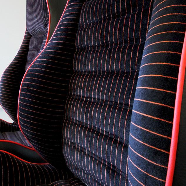 Siège Porsche, matériaux d'origine à neuf