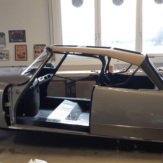 Confection d'une capote de citroën DS
