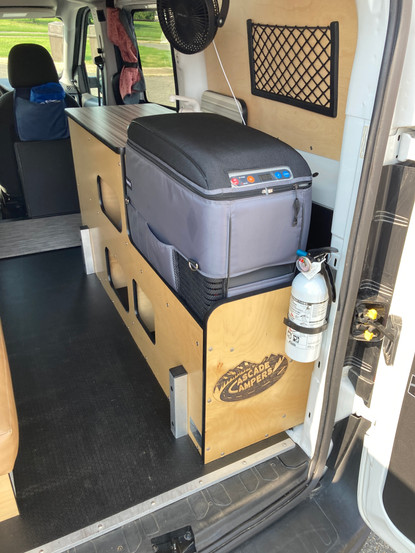 Dometic 12v refrigerator, electric sink, kitchen module, Cascade compact campervan