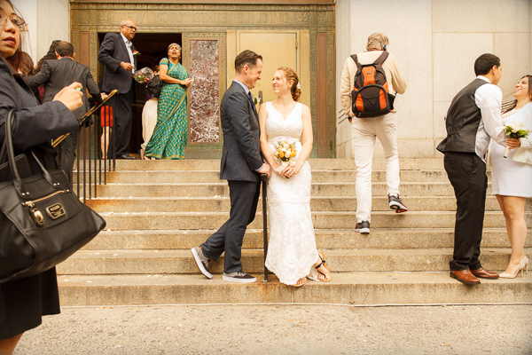 city hall NY Wedding Photographer