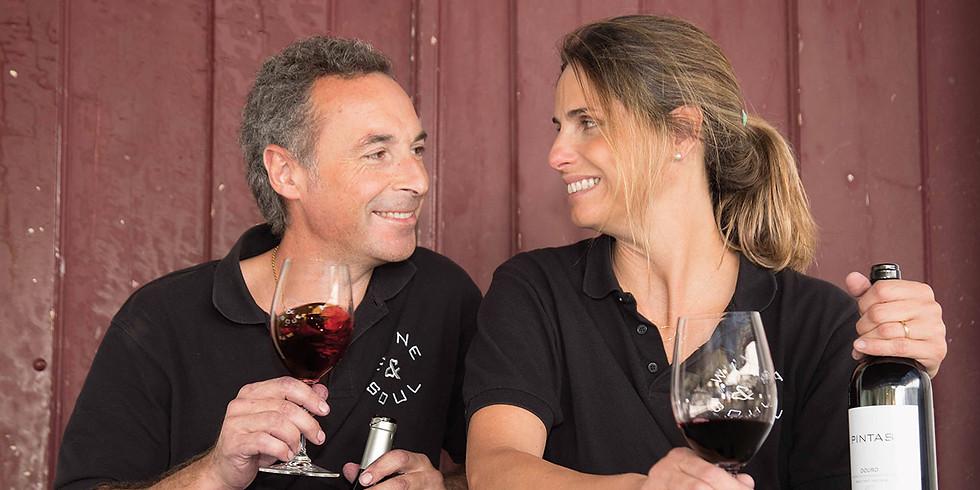 Wein degustation mit Jorge Borges und Sandra Tavares