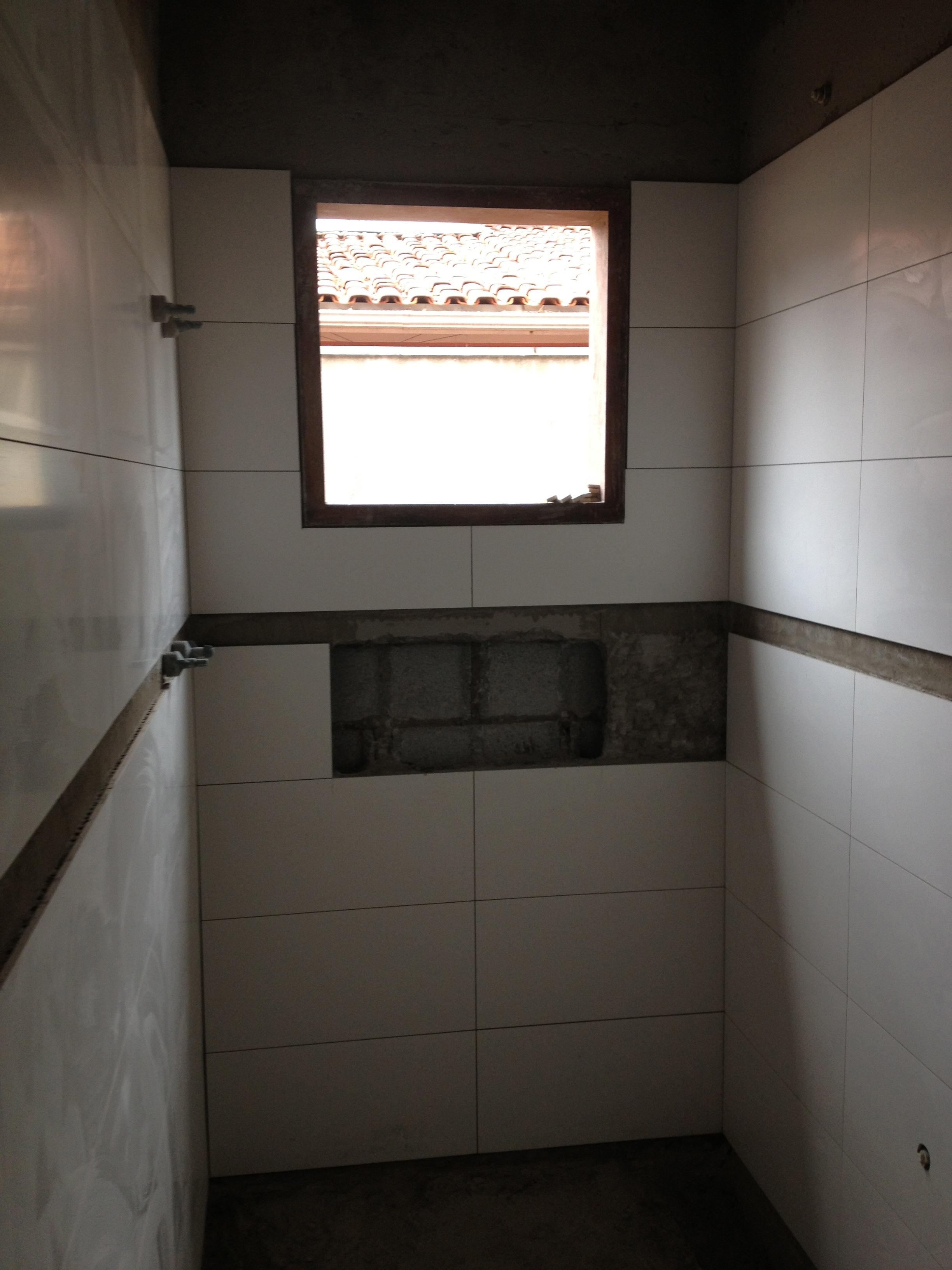 Revestimento dos banheiros