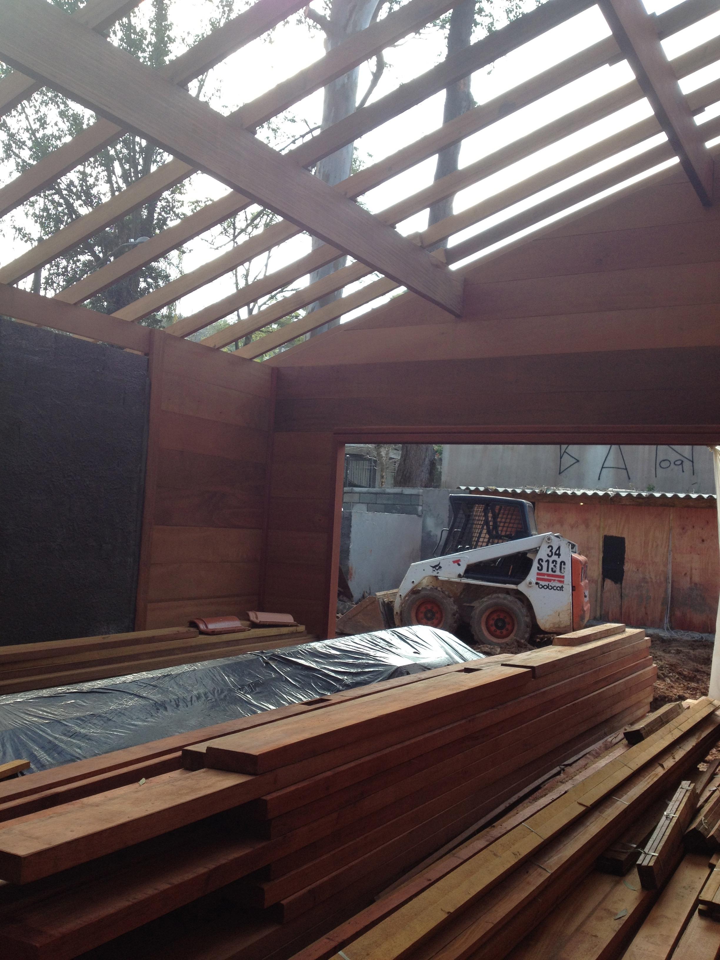 Estrutura do telhado, por dentro