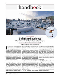 Unfinished business:   Why a winter construction fire should give underwriters pause before covering the risk of unfinished buildings