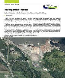 Building Waste Capacity: Partnership creates cost-effective, environmentally sound landfill solution.