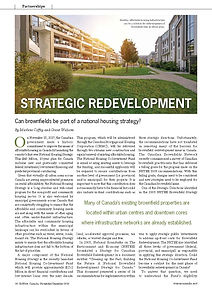 Strategic Redevelopment: Can brownfields be part of a national housing strategy?