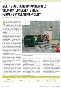 Multi-stage Remediation Removes Chlorinated Solvents From Former Dry Cleaning Facility