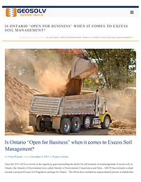 Ontario's Excess Soil Management Regulation: Responsibilities Shift To Project Leader