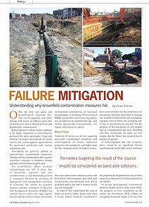Failure Mitigation: Understanding why brownfield contamination measures fail.