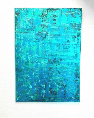 Water blue__#acrylart #color #waterblue