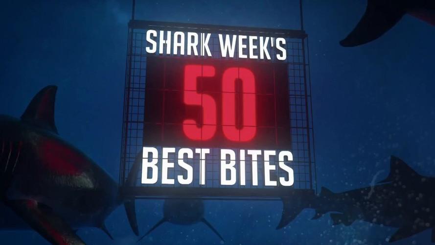 SHARK WEEK'S 50 BEST BITES | DISCOVERY