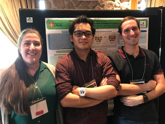 Laura, Daryl, and Thibaut at the 3rd Canadian Symposium on Genome Instability and Telomeres